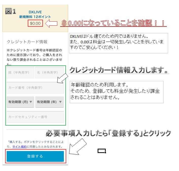 DXLIVE登録2
